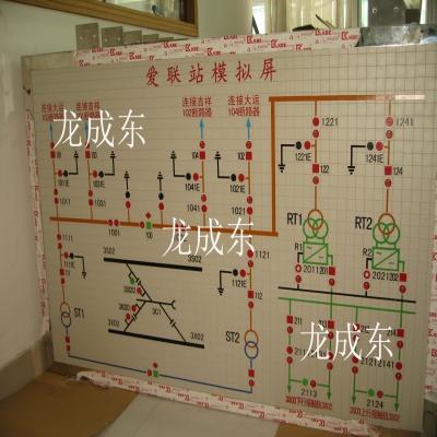 深圳地铁模拟屏